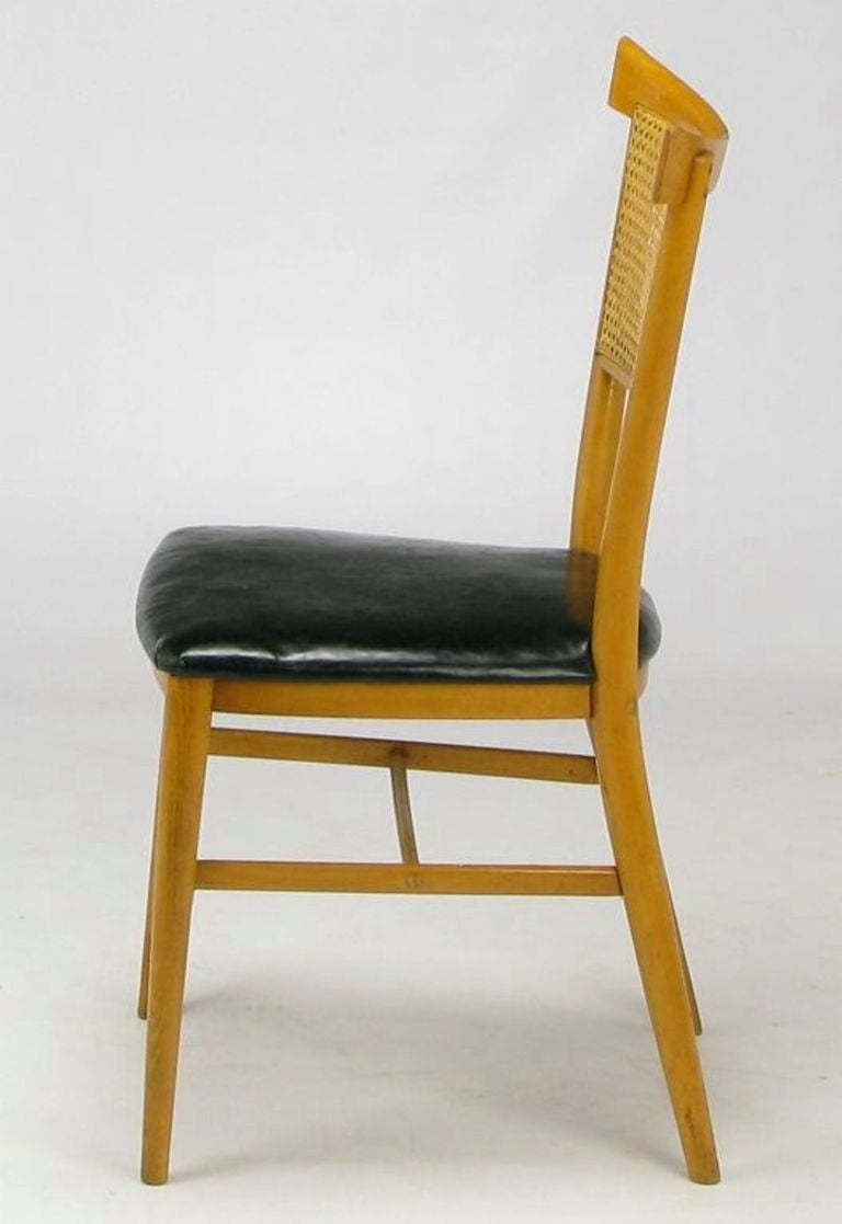 Four paul mccobb maple perimeter group dining chairs for