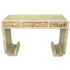 Robert Marcius Tessellated Fossil Stone Writing Table