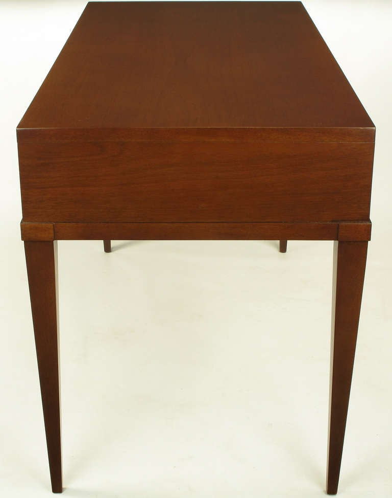 Fine Arts Furniture Co. Elegant Mahogany Three Drawer Writing Table In Excellent Condition For Sale In Chicago, IL