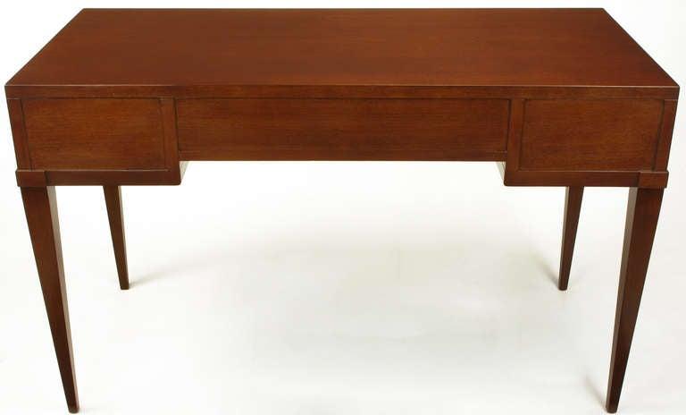 20th Century Fine Arts Furniture Co. Elegant Mahogany Three Drawer Writing Table For Sale