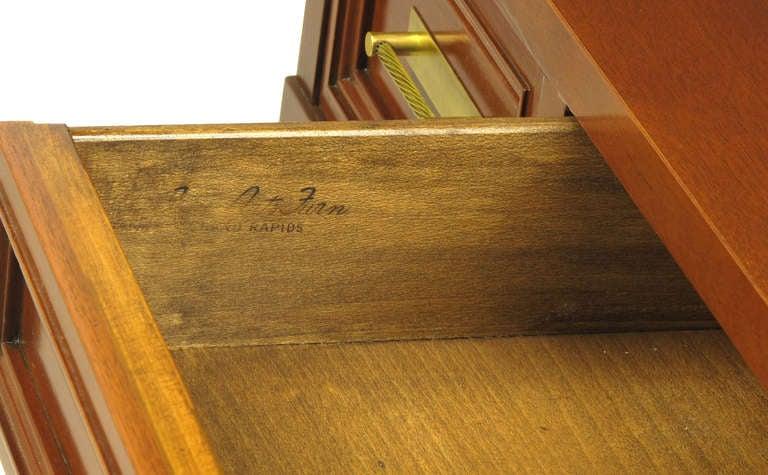 Fine Arts Furniture Co. Elegant Mahogany Three Drawer Writing Table For Sale 5