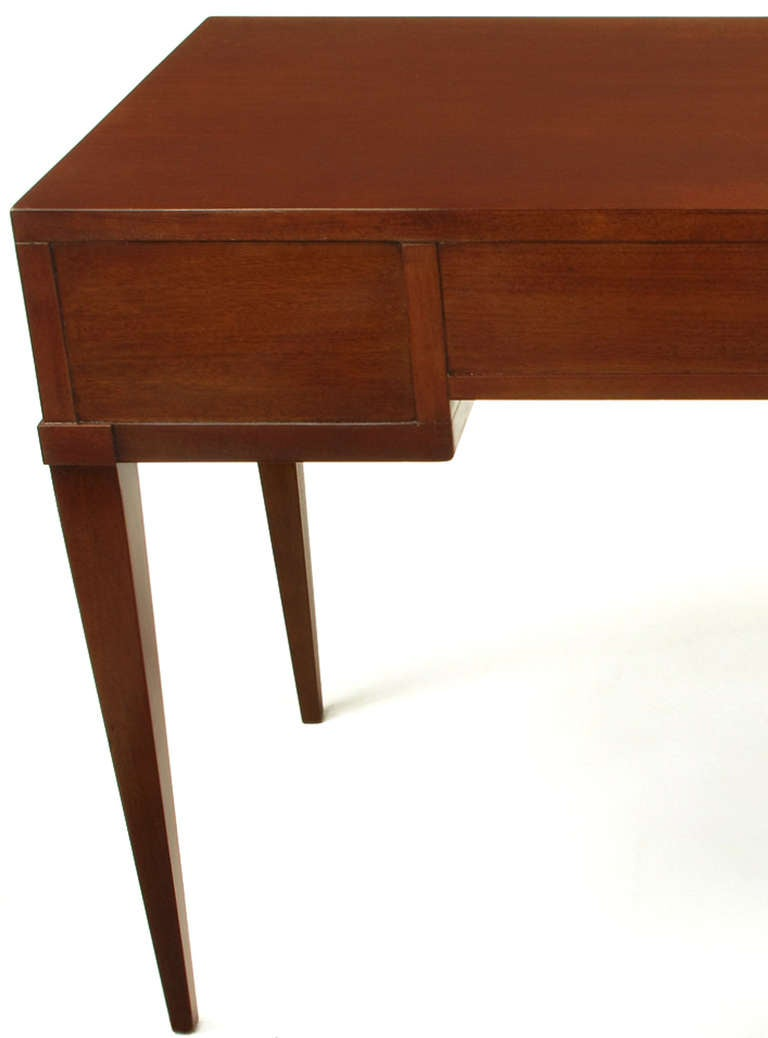 Fine Arts Furniture Co Elegant Mahogany Three Drawer Writing Table At 1stdibs