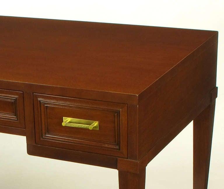 Fine Arts Furniture Co. Elegant Mahogany Three Drawer Writing Table For Sale 2