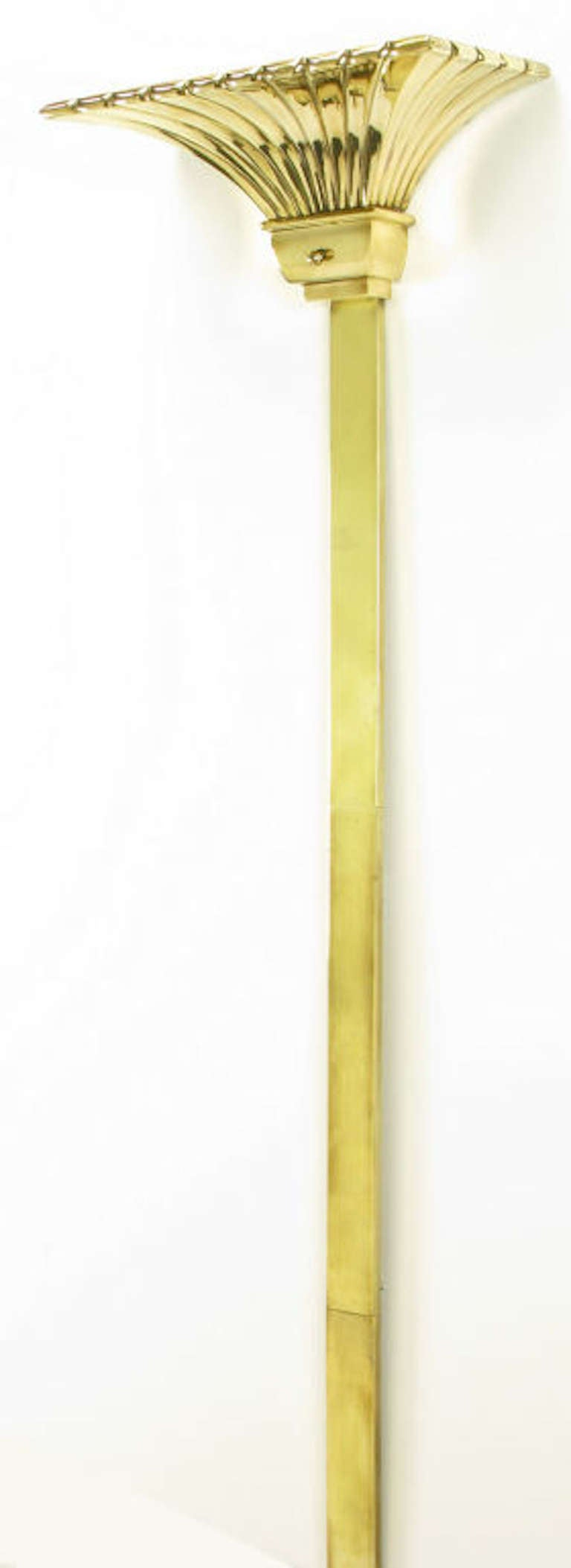 Wall Torchiere Lamps : Chapman Lighting Brass Empire Style Wall Mounted Torchiere For Sale at 1stdibs