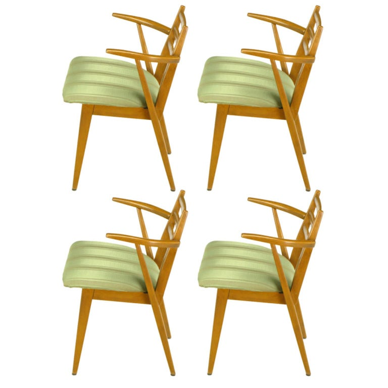 kuypers birch wood dining arm chairs for imperial for sale at 1stdibs