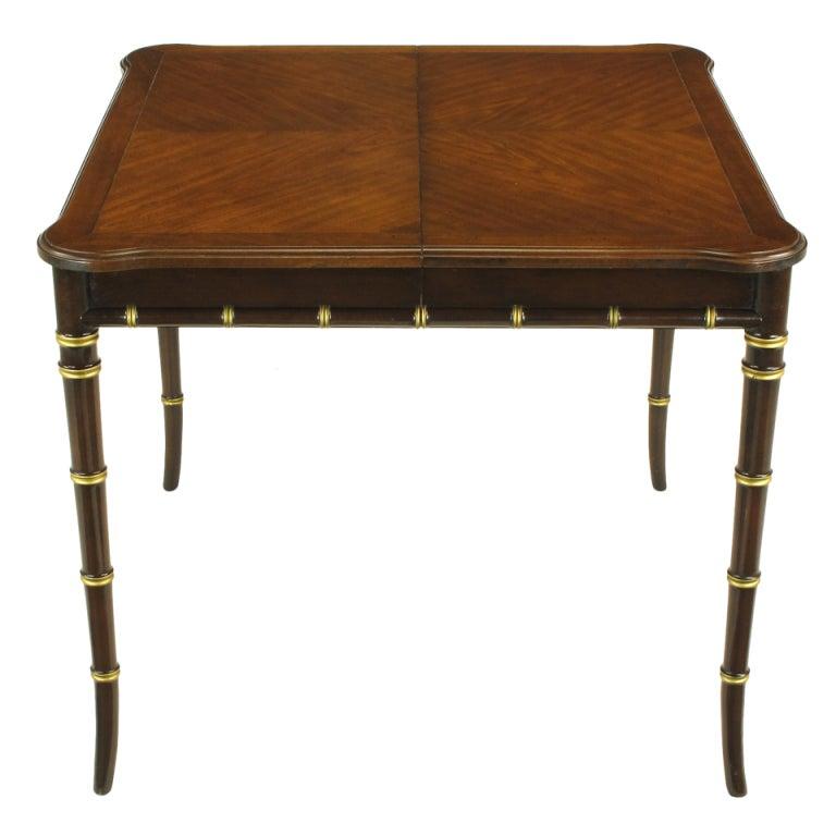 Kindel Petite Walnut Dining Table With Bamboo Form Legs  : XXX0004 from 1stdibs.com size 768 x 768 jpeg 39kB