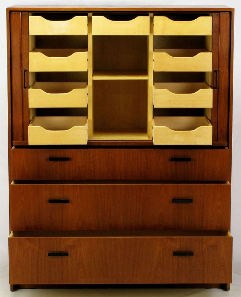 Mid-20th Century Falster Teak Danish Twelve-Drawer Gentleman's Chest For Sale