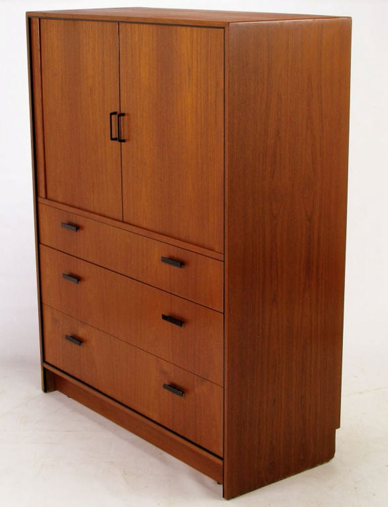 Lacquered Falster Teak Danish Twelve-Drawer Gentleman's Chest For Sale