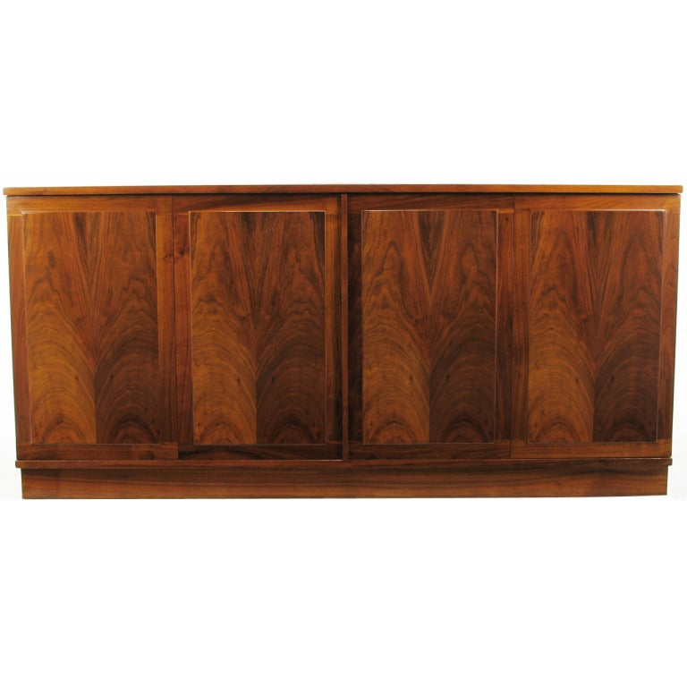 Honduran Rosewood Book-Matched Four-Door Cabinet For Sale at 1stdibs