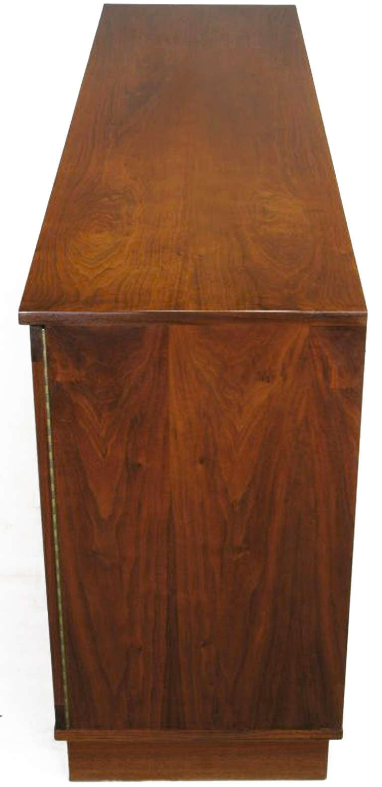Honduran Rosewood Book Matched Four Door Cabinet For Sale