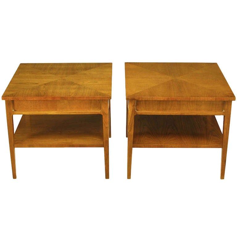 Pair Michael Taylor New World Mahogany End Tables At 1stdibs