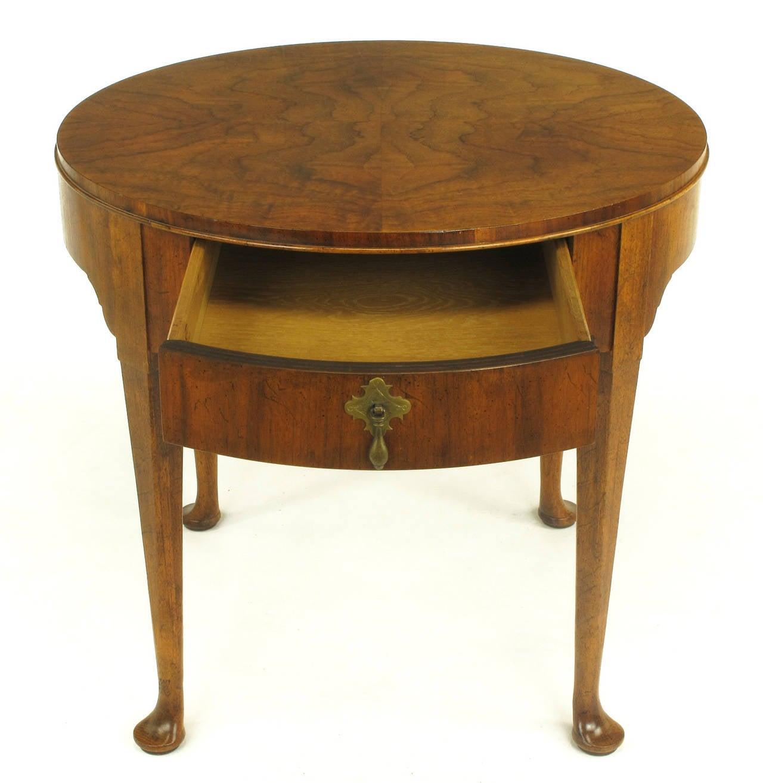 Baker Furniture Quot Milling Road Quot Figured Walnut Regency Side