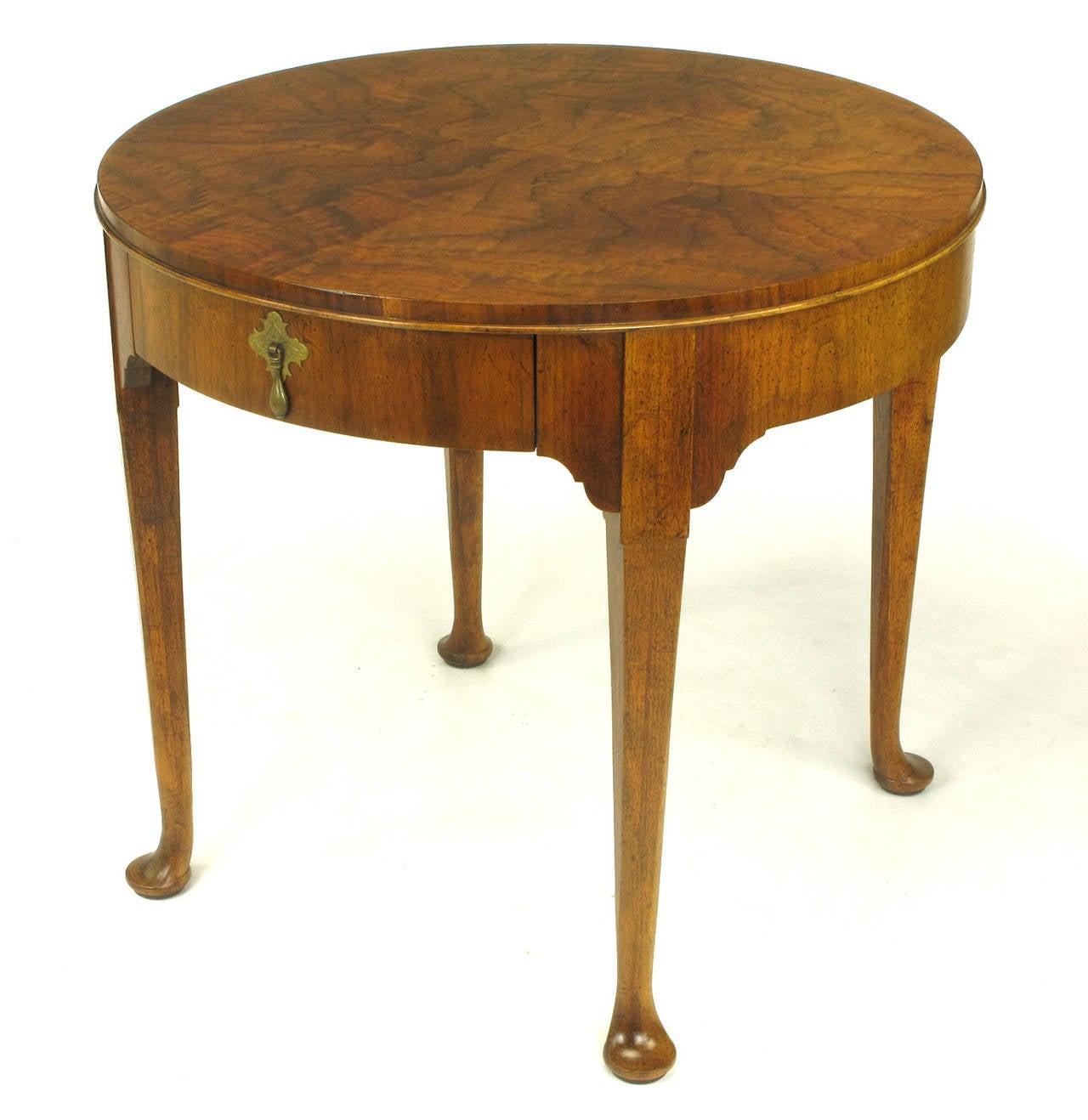 Baker Furniture Milling Road Figured Walnut Regency Side Table