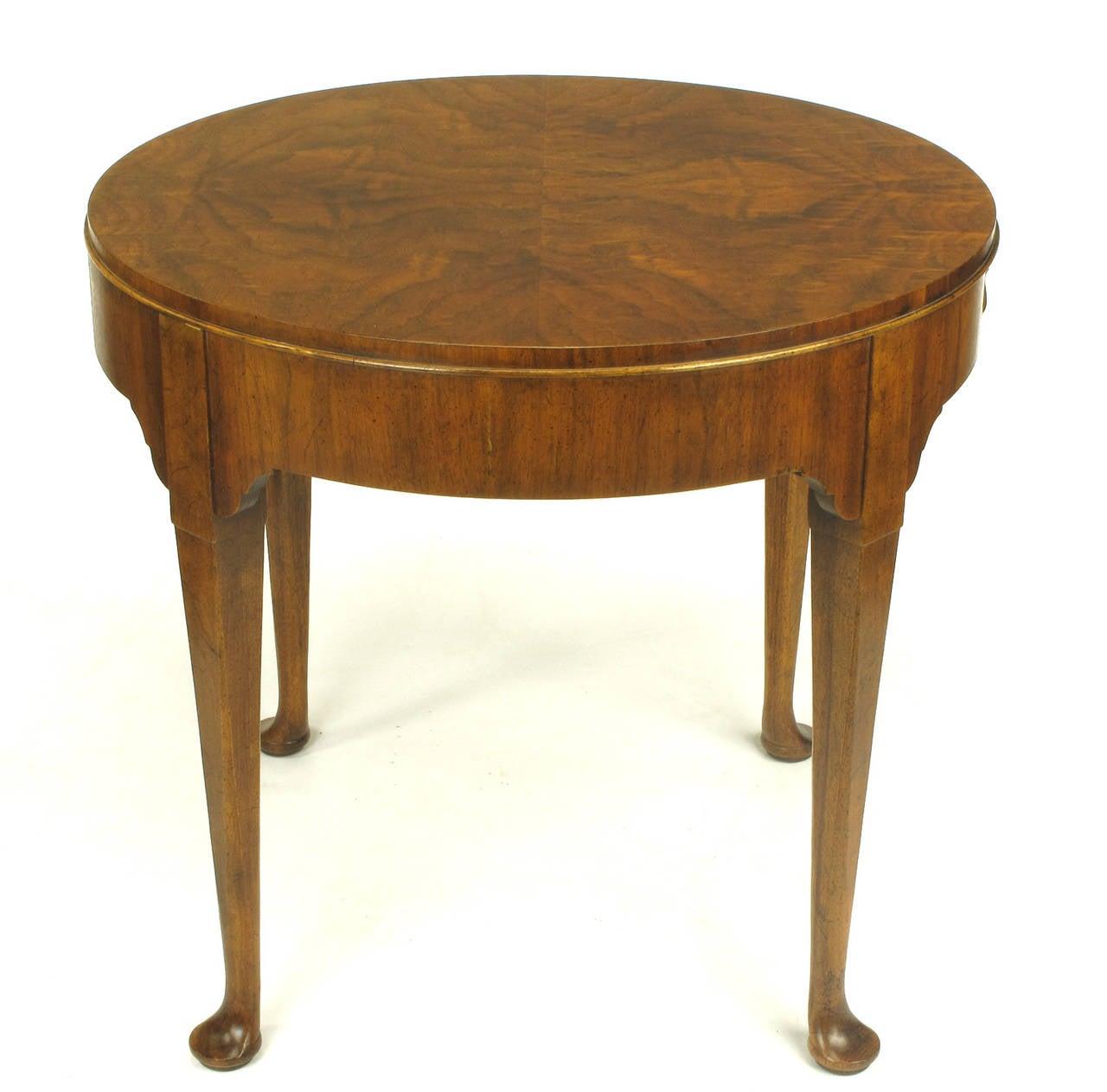 Baker Furniture u0026quot;Milling Roadu0026quot; Figured Walnut Regency Side ...