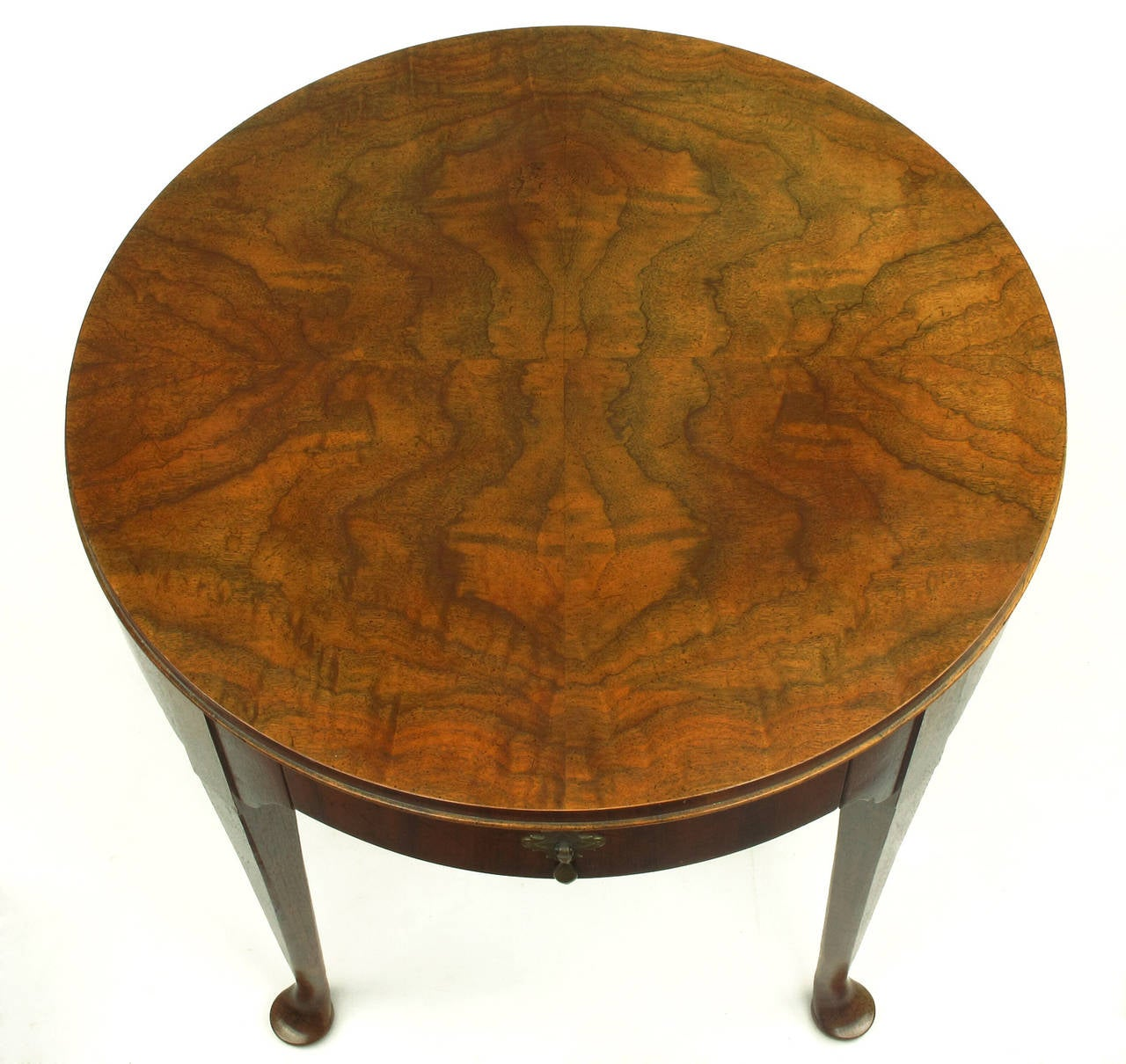 """Baker Furniture Milling Road Coffee Table: Baker Furniture """"Milling Road"""" Figured Walnut Regency Side"""