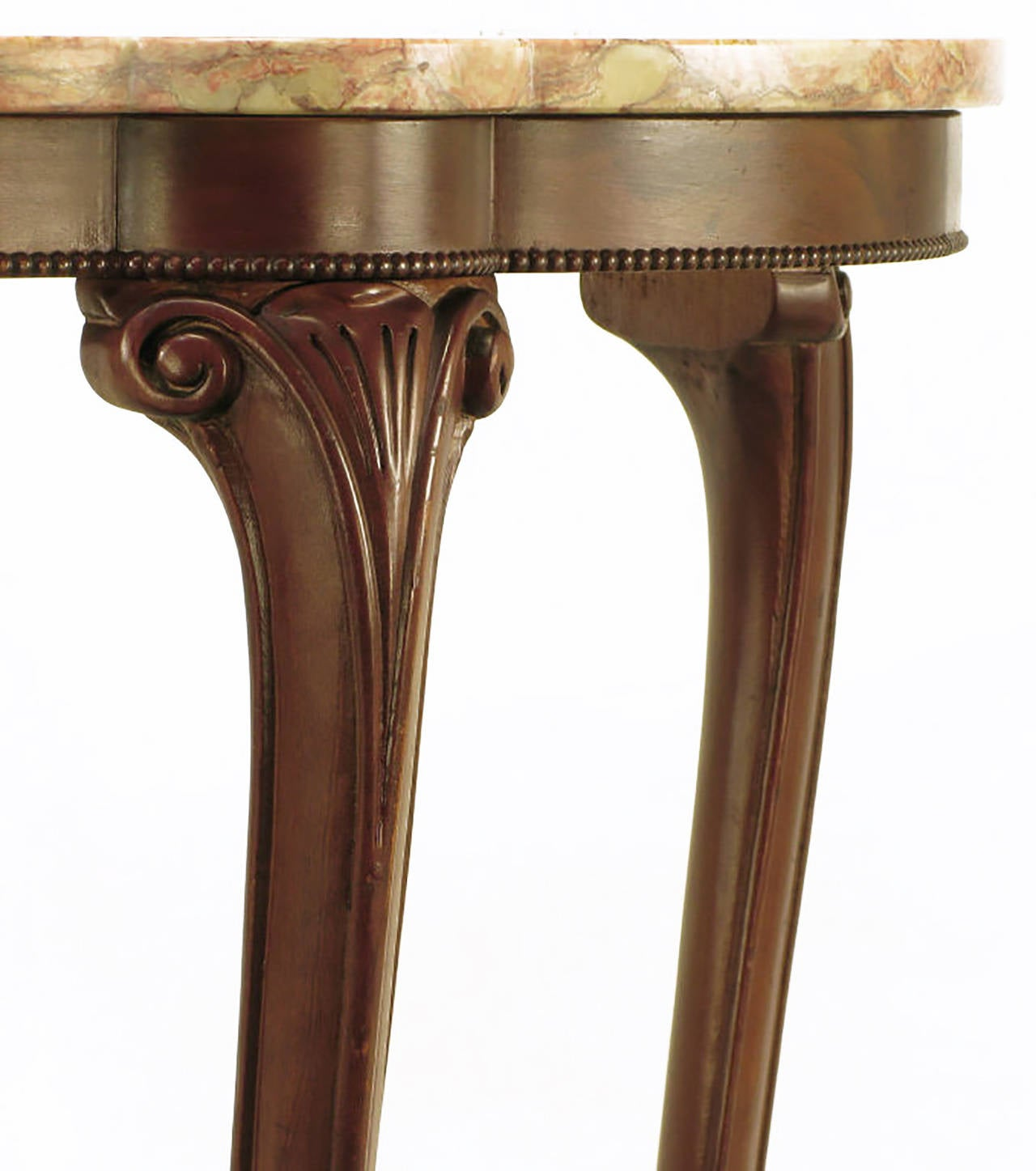 Rococo Mahogany and Rouge Marble Centre Table For Sale 1