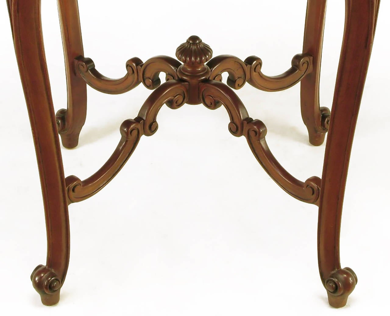 Mid-20th Century Rococo Mahogany and Rouge Marble Centre Table For Sale
