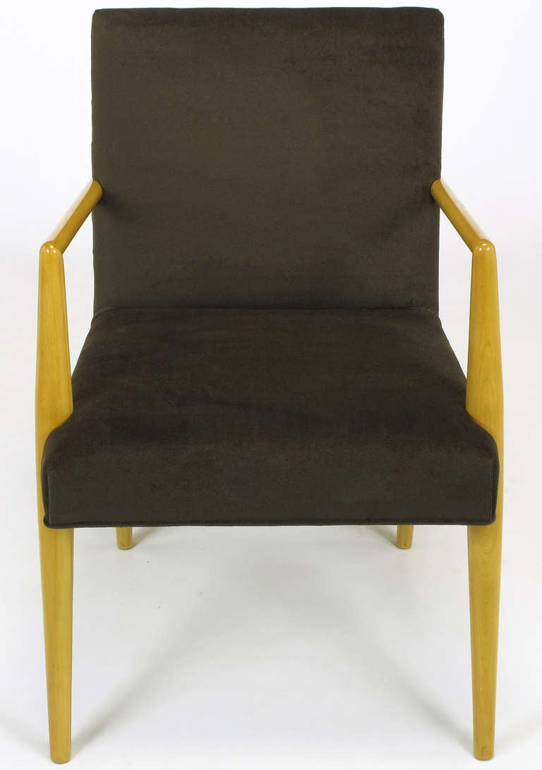 Mid-20th Century Pair of T.H. Robsjohn-Gibbings for Widdicomb Open Armchairs For Sale