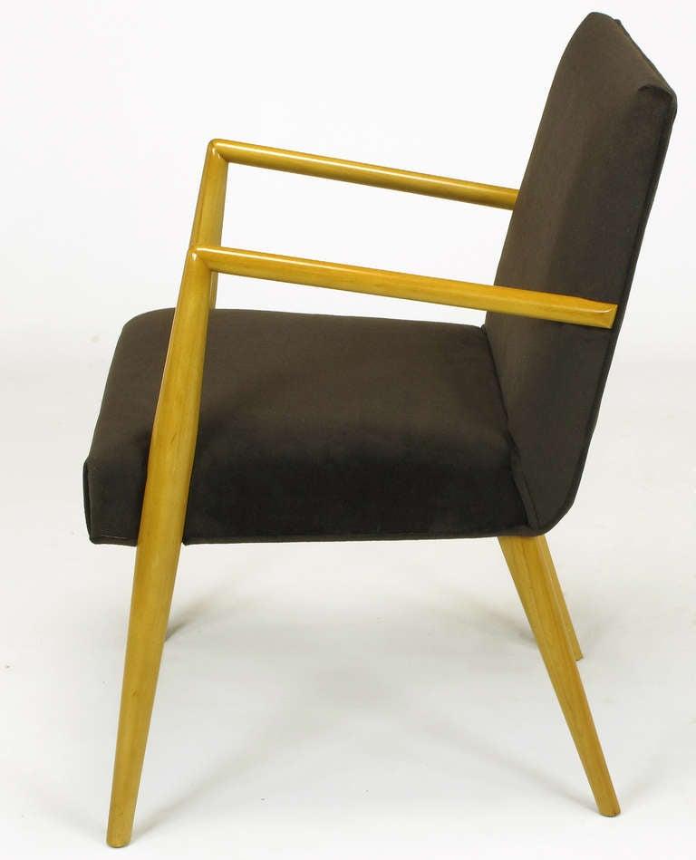 American Pair of T.H. Robsjohn-Gibbings for Widdicomb Open Armchairs For Sale