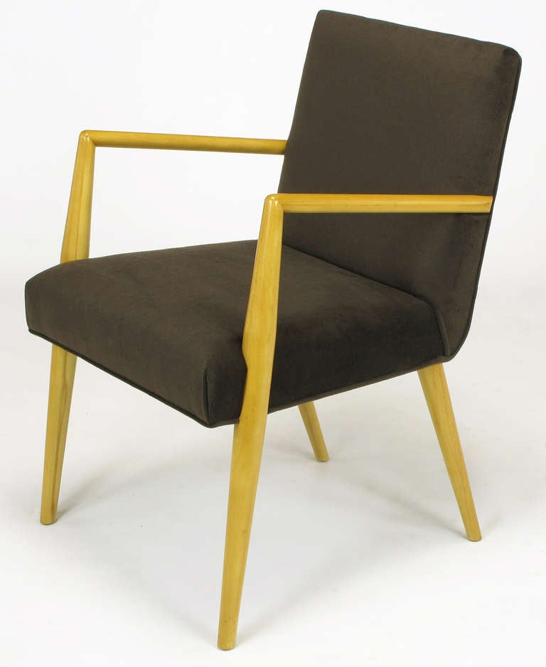 Pair of T.H. Robsjohn-Gibbings for Widdicomb Open Armchairs In Excellent Condition For Sale In Chicago, IL