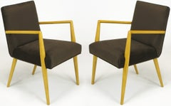 Pair of T.H. Robsjohn-Gibbings for Widdicomb Open Armchairs