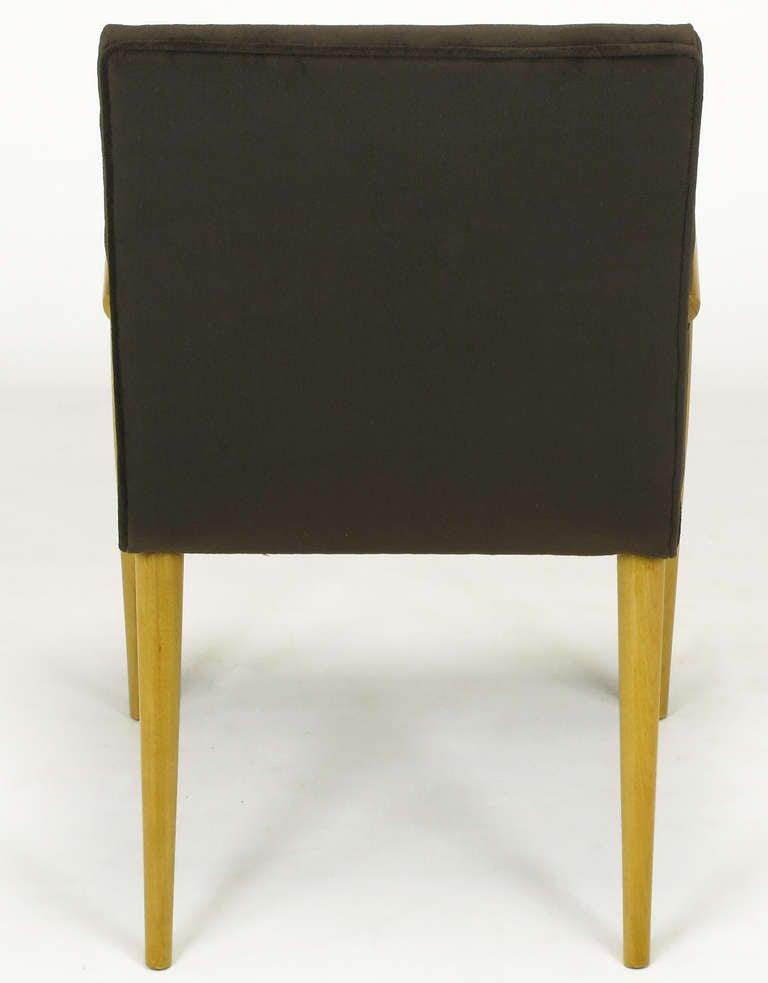 Pair of T.H. Robsjohn-Gibbings for Widdicomb Open Armchairs For Sale 1