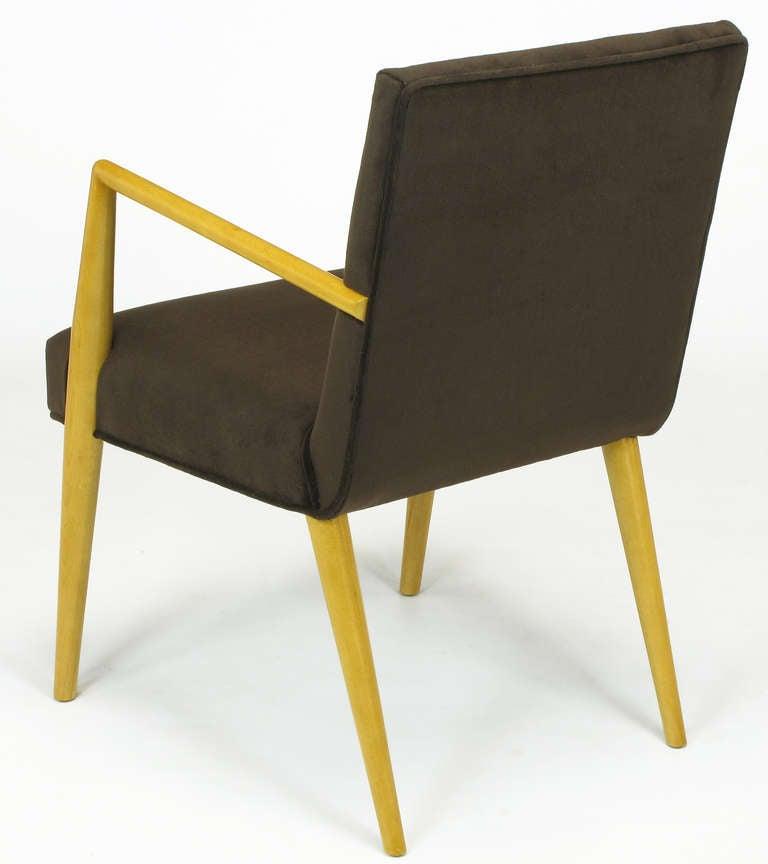 Pair of T.H. Robsjohn-Gibbings for Widdicomb Open Armchairs For Sale 2