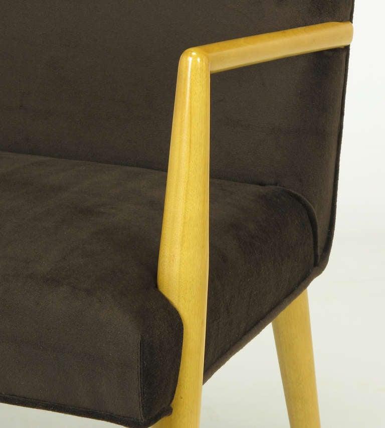 Pair of T.H. Robsjohn-Gibbings for Widdicomb Open Armchairs For Sale 3