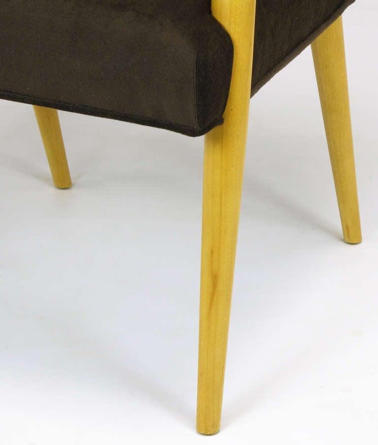 Pair of T.H. Robsjohn-Gibbings for Widdicomb Open Armchairs For Sale 4