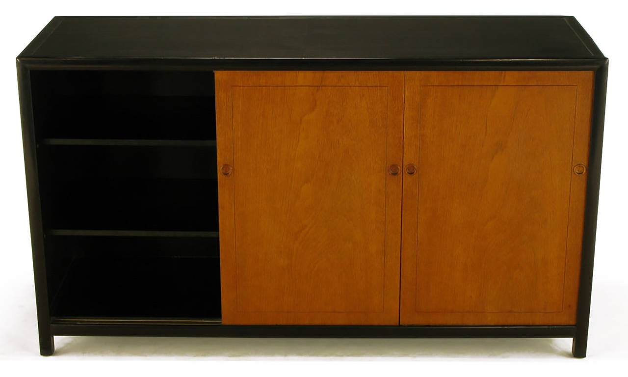Michael Taylor for Baker New World Mahogany Cabinet In Good Condition For Sale In Chicago, IL