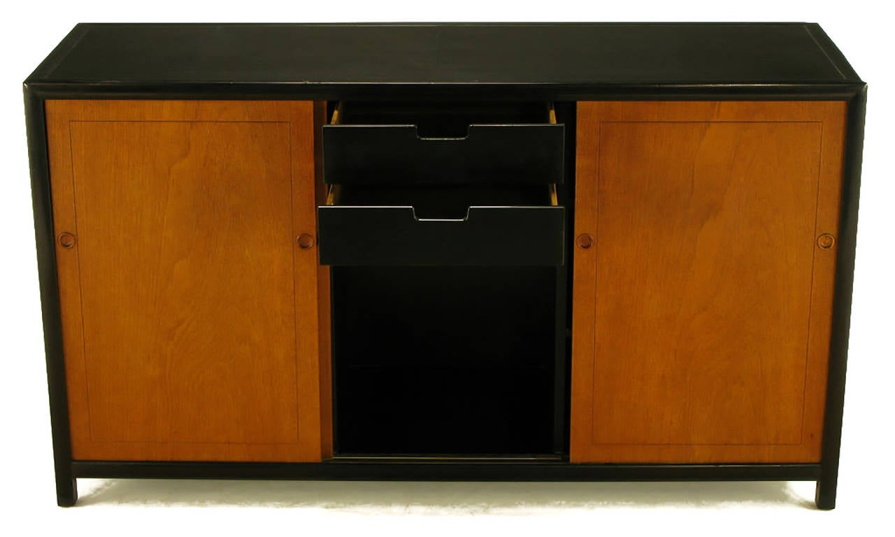 Mid-20th Century Michael Taylor for Baker New World Mahogany Cabinet For Sale