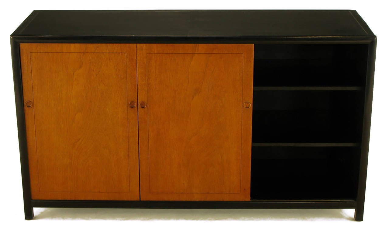 Michael Taylor for Baker New World Mahogany Cabinet For Sale 1