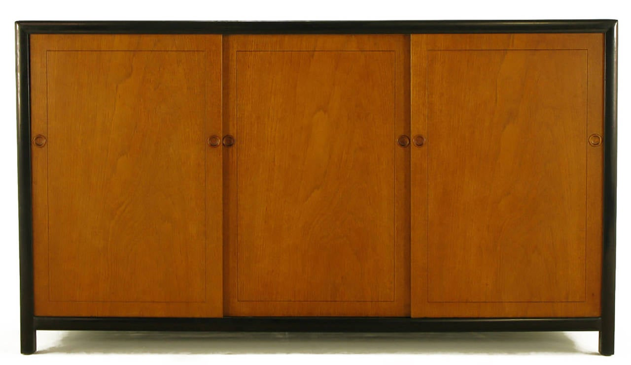 American Michael Taylor for Baker New World Mahogany Cabinet For Sale