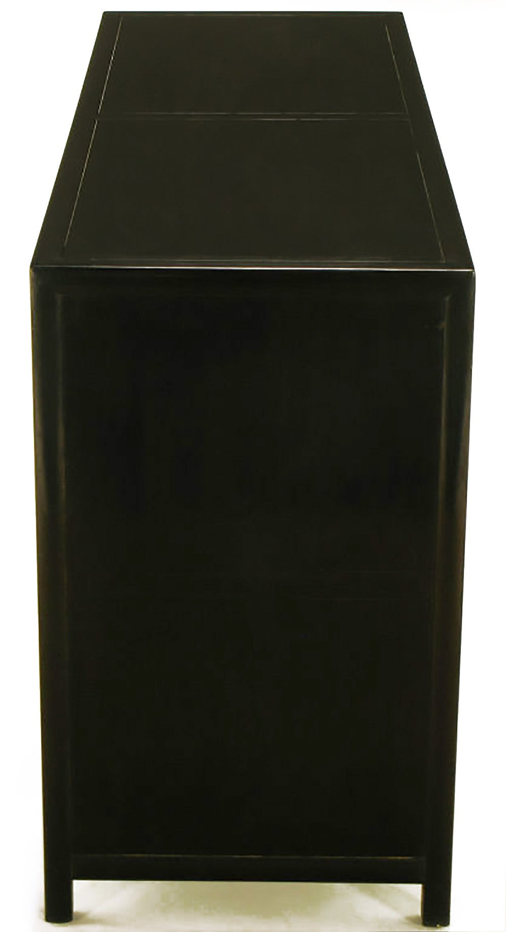 Ebonized Michael Taylor for Baker New World Mahogany Cabinet For Sale