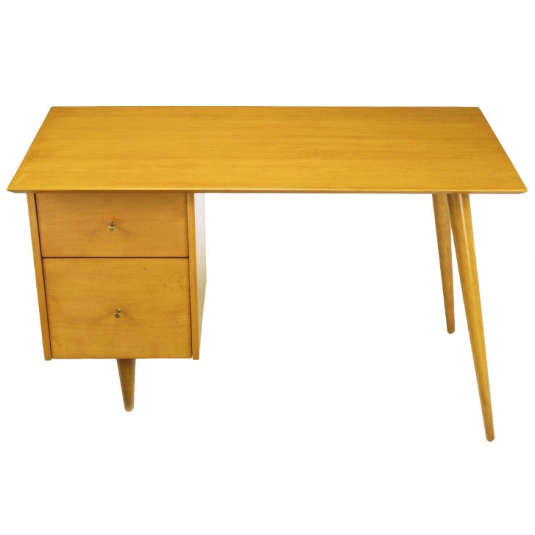 Paul McCobb Maple Planner Group Desk For Sale