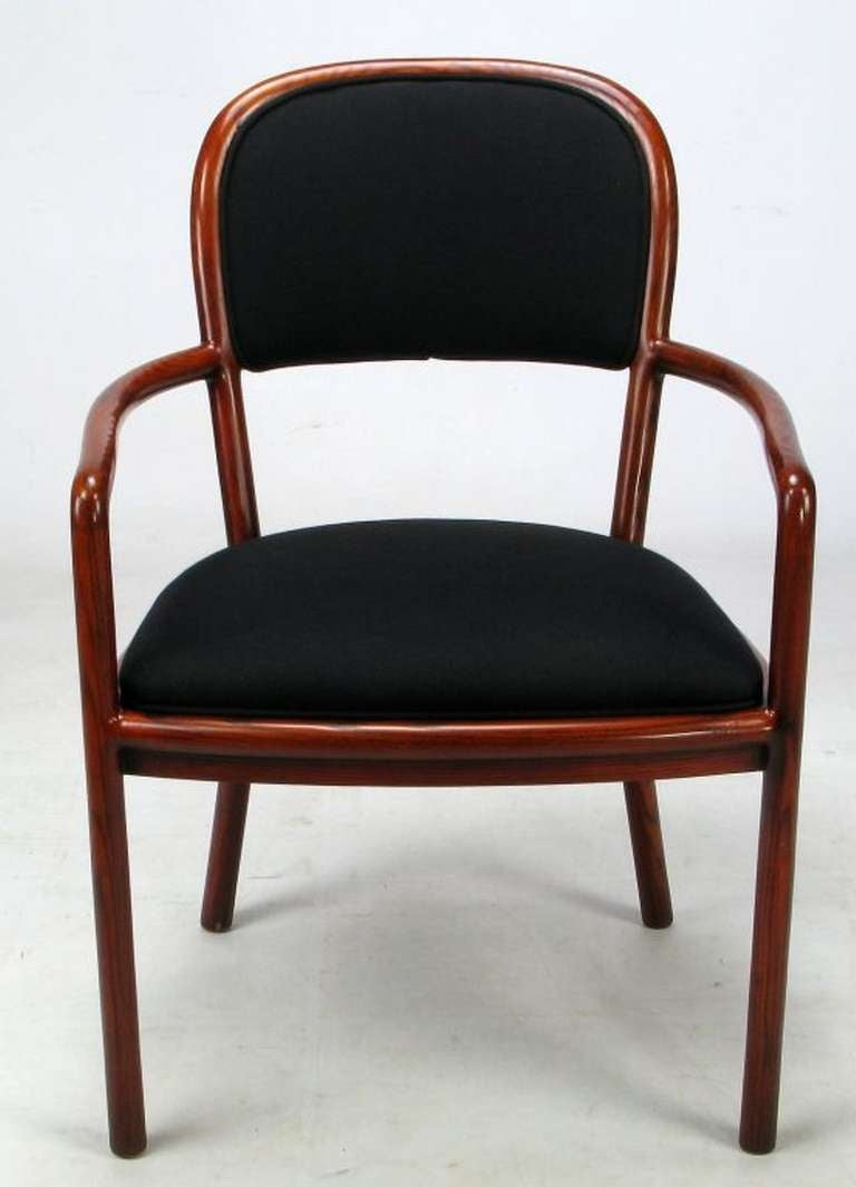 Four Rare Ward Bennett Ash Bentwood Chairs In Excellent Condition For Sale In Chicago, IL