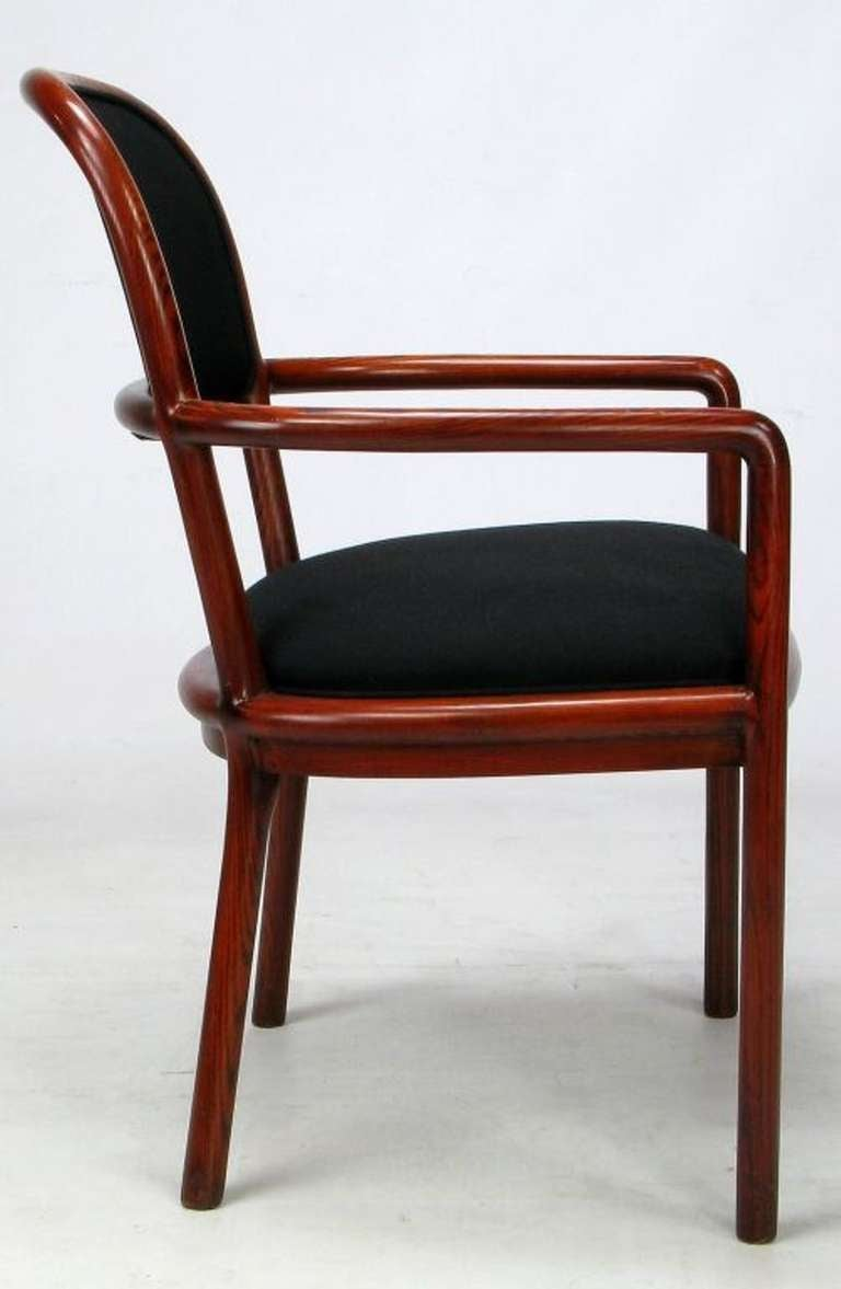 Late 20th Century Four Rare Ward Bennett Ash Bentwood Chairs For Sale