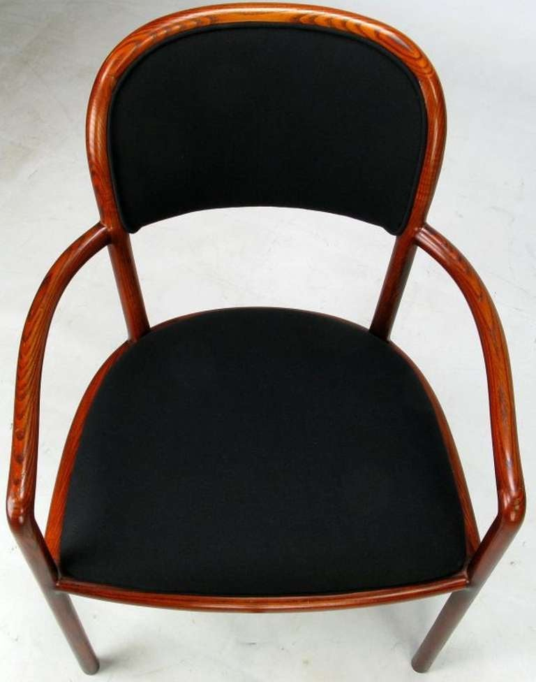 Four Rare Ward Bennett Ash Bentwood Chairs For Sale 1