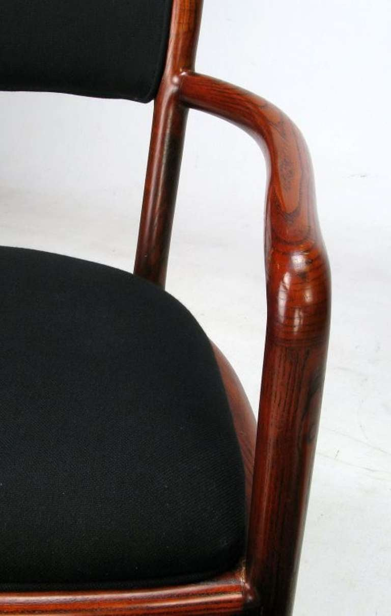 Four Rare Ward Bennett Ash Bentwood Chairs For Sale 3
