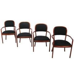 Four Rare Ward Bennett Ash Bentwood Chairs