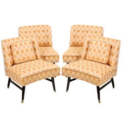 Four Harvey Probber Game Table Chairs