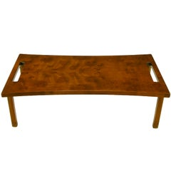 Harold Schwartz for Romweber Burled Walnut Parabolic Coffee Table