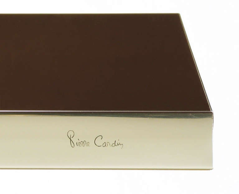 Pierre Cardin Chrome and Dark Chocolate Brown Dining Table For Sale 3