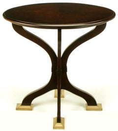 Oval Cherrywood and Bronze Parquetry Top Art Nouveau Centre Table