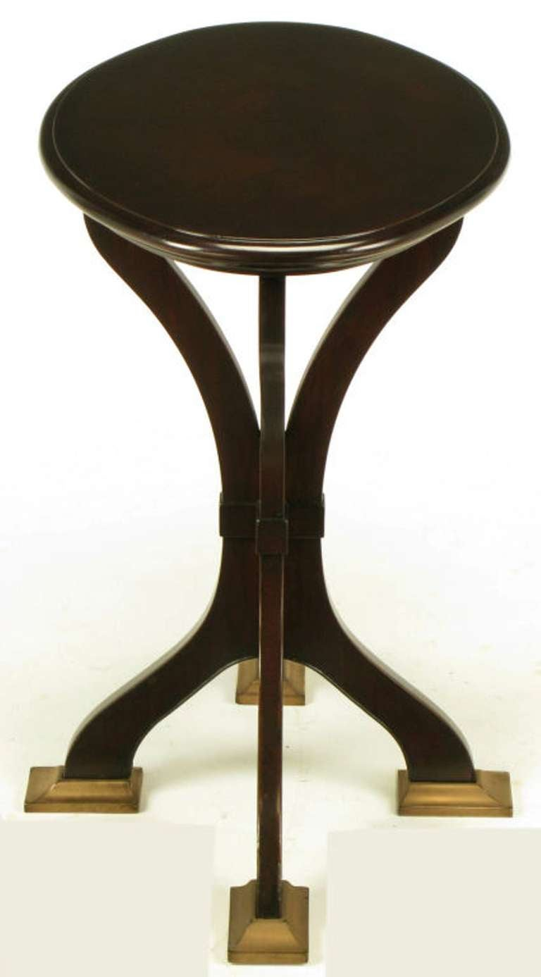 Mid-20th Century Oval Cherrywood and Bronze Parquetry Top Art Nouveau Centre Table For Sale