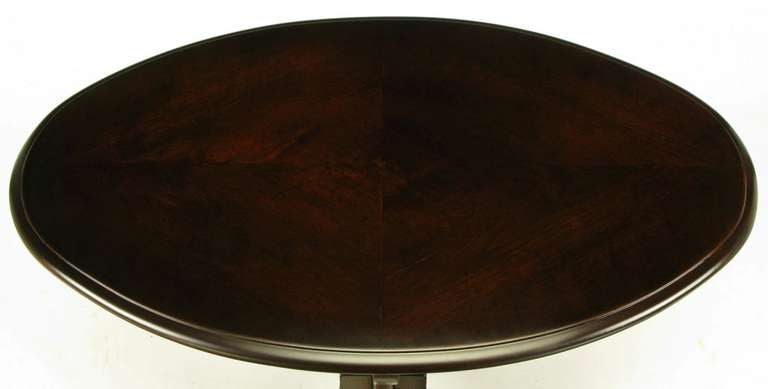 Oval Cherrywood and Bronze Parquetry Top Art Nouveau Centre Table For Sale 2
