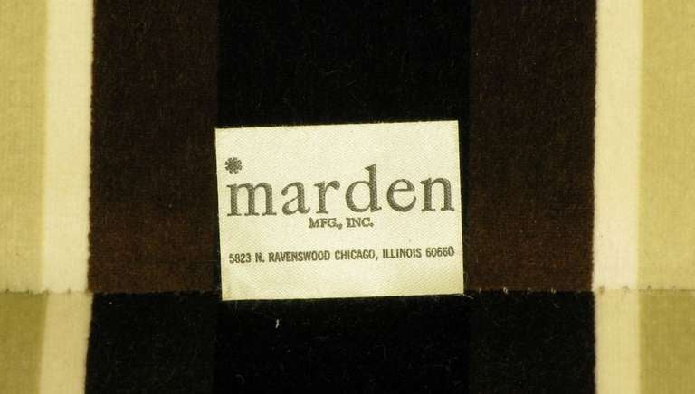 Marden Even Arm Striped Velvet Tuxedo Settee 9