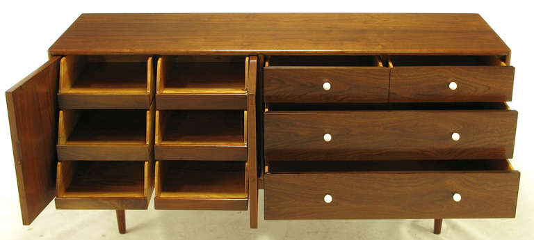 Kipp Stewart & Stewart MacDougall Walnut Dresser In Excellent Condition For Sale In Chicago, IL