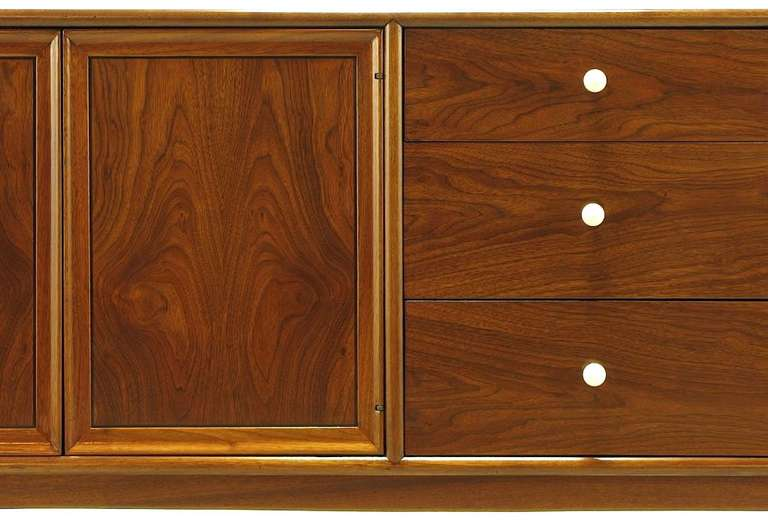 Brass Kipp Stewart & Stewart MacDougall Walnut Dresser For Sale
