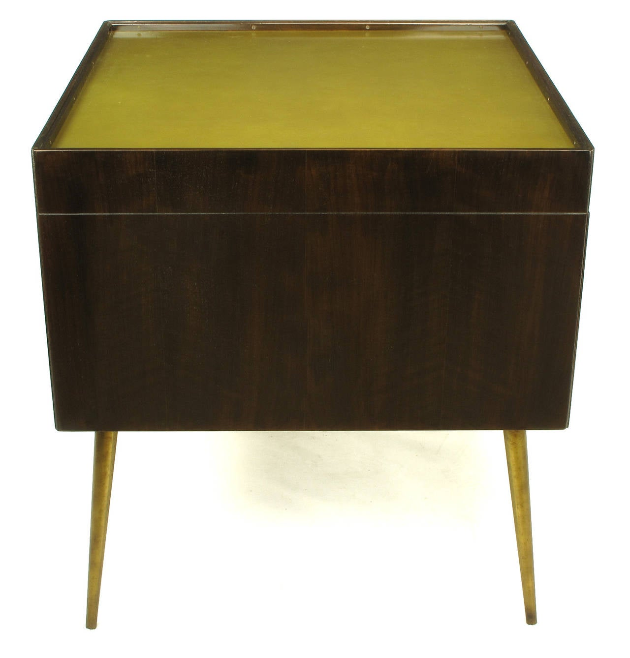 Mid-20th Century Bert England Orientation Group Walnut and Brass Bar Cabinet for John Widdicomb For Sale